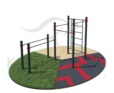 Swedish wall, 3 crossbars and parallel bars